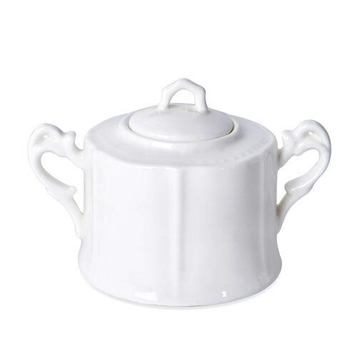 22 Piece Set - Art Deco - Porcelain Tea Set (Consists of 6 Cups, 6 Saucers, 6 Spoons, 1 Sugar Jar, 1 Milk Jar, 1 Tea Pot)