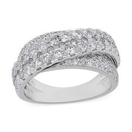 14K White Gold Diamond Band Ring 2.25 Ct, Gold wt. 7.70 Gms