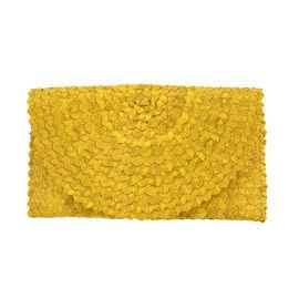 Bali Collection Plam Leaf Sisik Pattern Woven Clutch Handbags (Size:57x35x25Cm) - Yellow