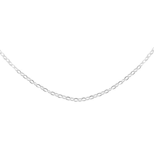 Made in Italy - Sterling Silver Cable Chain (Size 24)