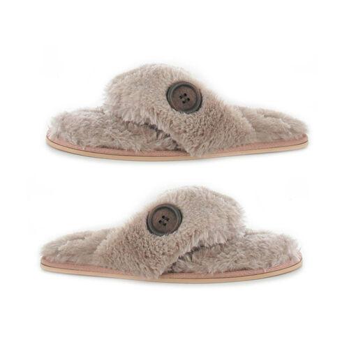 Ella Rebecca Supersoft Toe Post Slipper (Size 5) - Mink