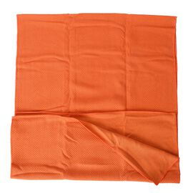 Orange Yoga mat Towel with Anti Slip Mechanism