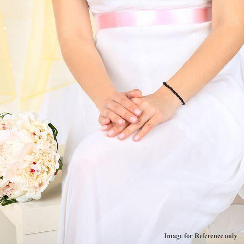 Natural Boi Ploi Black Spinel Bead Adjustable Bracelet (Size 6.5-9.5) 33.76 Ct.