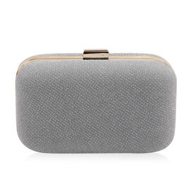 Hardcase Clutch Bag with Chain - Silver