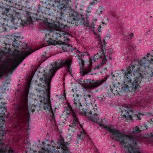 Dark Pink Colour Abstract Pattern Scarf (Size 220x50 Cm)