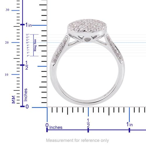 ILIANA 1/2 Carat Diamond IGI Certified SI G-H Cluster Engagement Ring in 18K White Gold