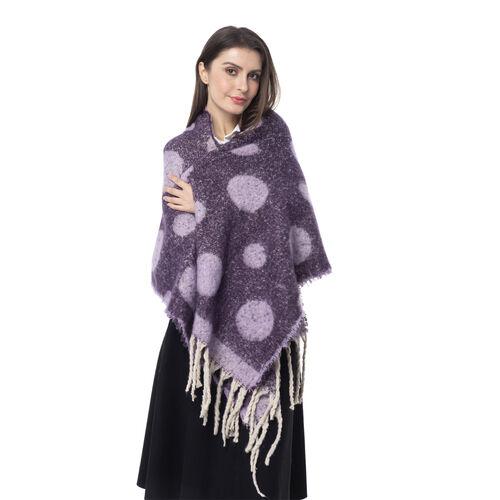 New Season- Light Purple Colour Polka Dot Pattern Shawl (Size 220x52 Cm)