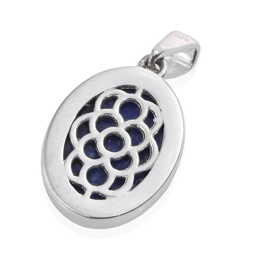 (Option 2) Blue Howlite (Ovl) Pendant in Sterling Silver 11.000 Ct.