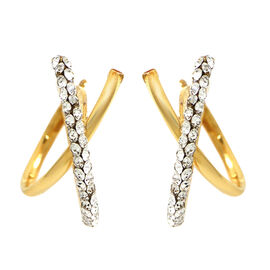 Italian Made - 9K Yellow Gold Earrings with French Clip