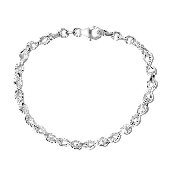 Infinity Knot Bracelet in Sterling Silver 6.20 Grams Size 7 Inch