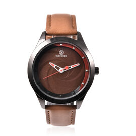 STRADA Japanese Movement Watch with Coffee Strap