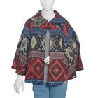 Designer Inspired Multi Colour Geometrical Woven Pattern Jacket Size 115x65 Cm