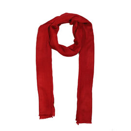 100 % Cashmere Wool  Wine Red Colour Scarf (Size 70x200 CM)