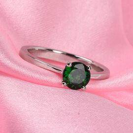 RHAPSODY 950 Platinum AAAA Tsavorite Garnet Solitaire Ring 1.00 Ct.