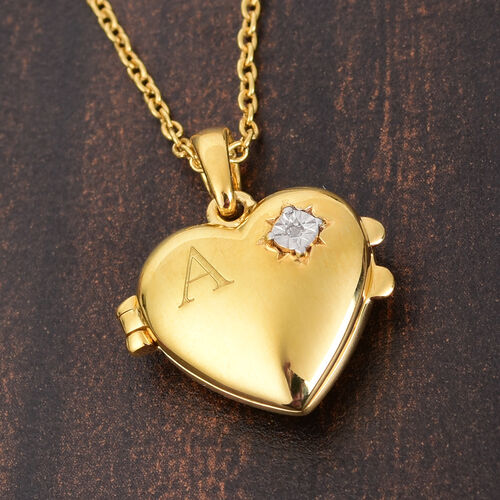 Personalise Engraved Initial and Birthstone Heart Locket