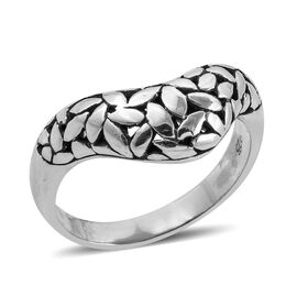 Royal Bali Collection Sterling Silver Flower Petals Band Ring