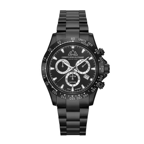 CHRISTOPHE DUCHAMP Grand Mont Black Watch with Black Dial