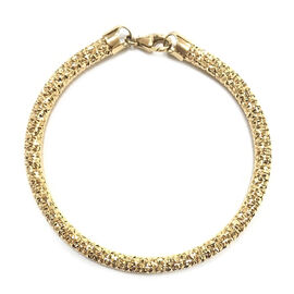 Diamond Cut Bracelet in 9K Yellow Gold Size 7 with 1 inch Extender 10.05 Grams