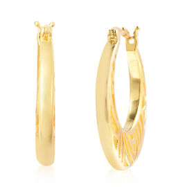 Isabella Liu Sea Rhyme Collection - Yellow Gold Overlay Sterling Silver Hoop Earrings (with Clasp)