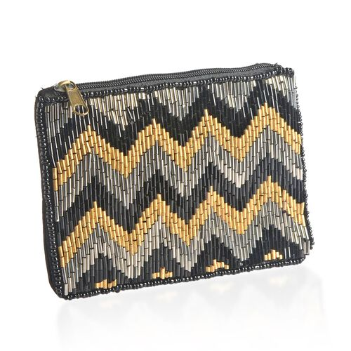 Black, Brown and Multi Colour Hand Bag (Size 14x10 Cm)