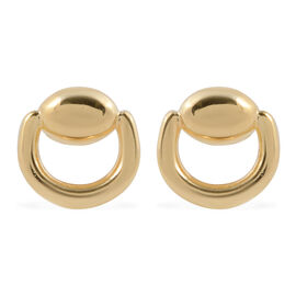 9K Yellow Gold Snaffle Stud Earrings Gold Wt. 1.40 Grams