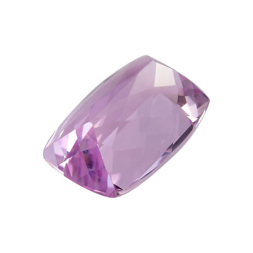 AAA Kunzite Cushion 14x10 Faceted 8.41 Cts
