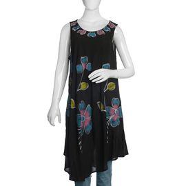 Black and Multi Colour Umbrella Dress (Size 116x132 Cm)