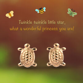 Turtle Earrings for Children in Gold Plated Silver