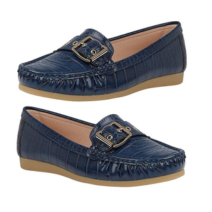 Lotus Cory Slip-On Loafers (Size 3) - Navy