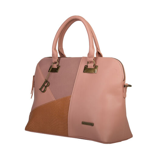 Bulaggi Collection - Livy - Handbag With Adjustable and Removable Strap (33x27x15 cm ) - Coral Red