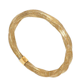 Italian Made 9K Yellow Gold Stretchable Bangle (Size 7- 10), Gold wt 3.00 Gms