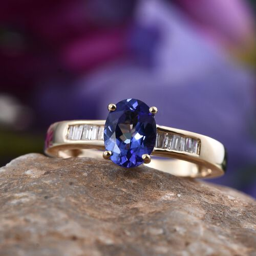 14K Y Gold Tanzanite (Ovl 1.05 Ct), Diamond Ring 1.250 Ct.