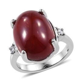 RHAPSODY 950 Platinum AAAA African Ruby (Ovl 16x12 mm), Diamond (VS/E-F) Ring 15.000 Ct, Platinum wt 8.28 Gms.