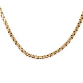 JCK Vegas Close Out Deal 9K Yellow Box Belcher Necklace (Size 22), Gold wt 13.10 Gms