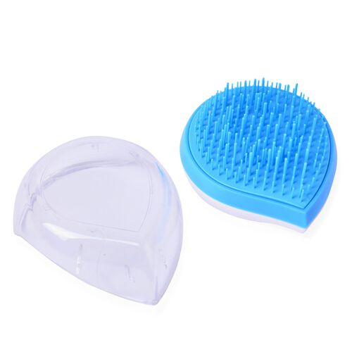 Set of 2 - Blue and White Colour Ergonomic Styler and Comb