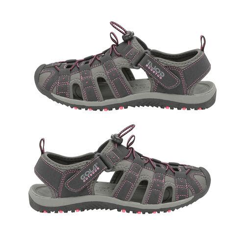 Gola Shingle 3 Closed Toe Ladies Sandal (Size 3) - Black and Hot Pink