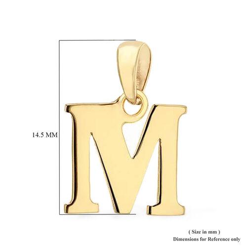 9K Yellow Gold Initial M Pendant