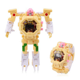 Yellow Colour Mecha Robot Electronic LED Dial Watch