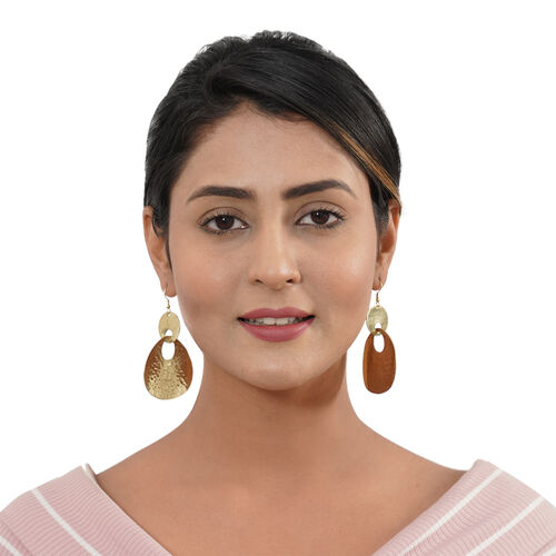 Shiny Dangle Hook Earrings