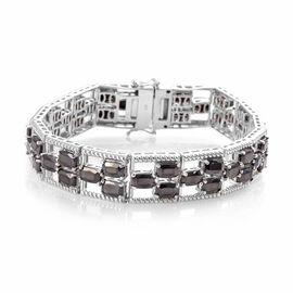 16 Carat Elite Shungite Tennis Bracelet in Platinum Plated Sterling Silver 8 Inch