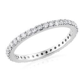 RHAPSODY 950 Platinum IGI Certified Diamond (Rnd) (VS/E-F) Ring 0.700 Ct