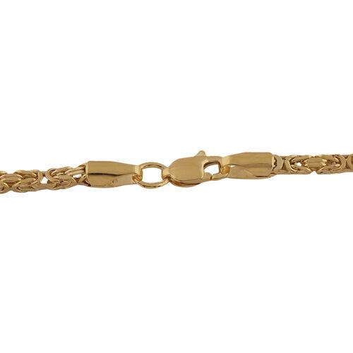 Italian Made 9K Yellow Gold Byzantine Necklace (Size 20)