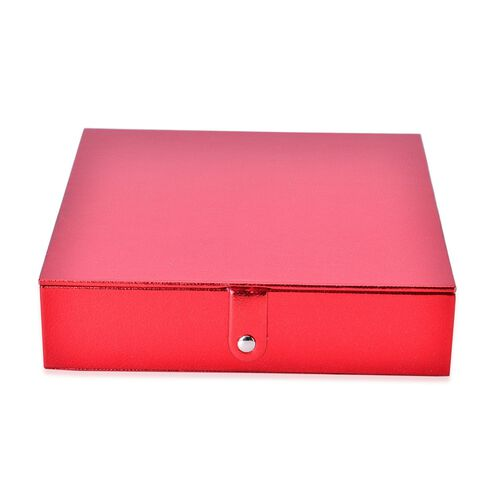 Red Colour Jewellery Box (Size 23x23x6 Cm)