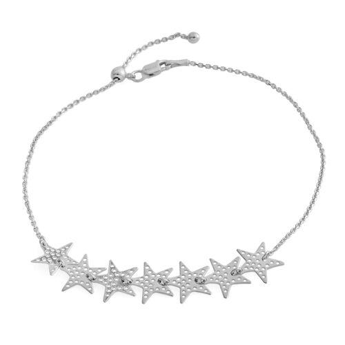 Designer Inspired- Sterling Silver Adjustable Star Anklet or Bracelet (Size Adjustable)