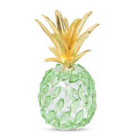 Crystal Decorations - Crystal Pineapple (Size 10x5.5 Cm) - Green and Gold