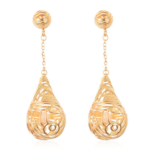 Isabella Liu Sea Rhyme White Mother of Pearl Dangle Earrings in Gold Plated Silver