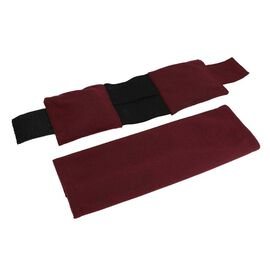 Shungite Filled Ankle Pad with Washable Cover (Size 10x22 Cm) -  Burgundy