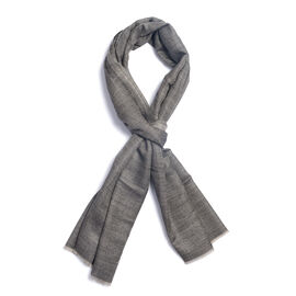 100% Cashmere Wool Dark Grey Colour Shawl (Size 200x70 Cm)