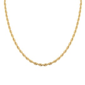 JCK Vegas Collection 9K Yellow Gold Rope Necklace (Size 20), Gold wt 5.12 Gms.