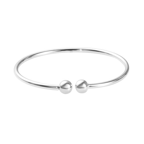Charmes De Memoire Bangle in Platinum Plated Sterling Silver 6.60 Grams 7.5 Inch